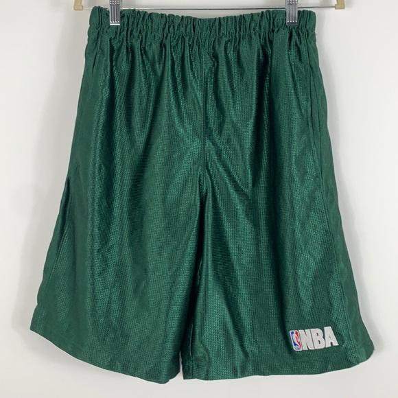 NBA green men's basketball shorts size Med